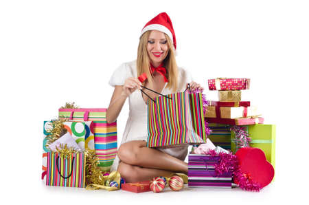 Happy woman after christmas shopping Stock Photo - 16754657
