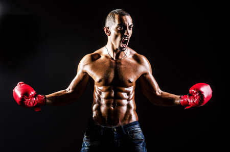 Young man with boxing gloves Stock Photo - 16754708