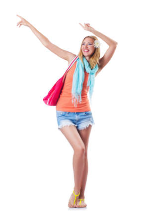Happy attractive young woman ready for summer vacation Stock Photo - 16754274