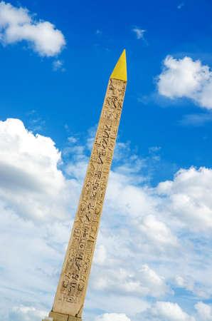 obelisk stone: Luxor monument from Egypt in Paris