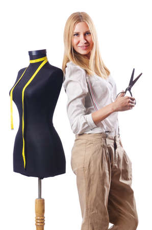 Woman tailor working on dress  Stock Photo - 16754566