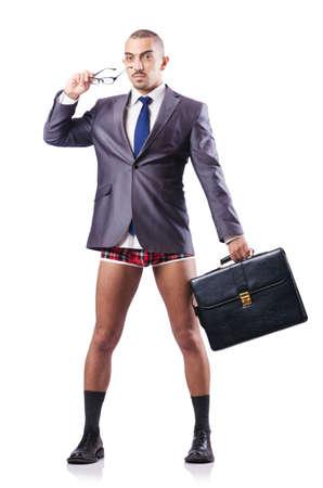 Nude businessman isolated on white Stock Photo - 16716106