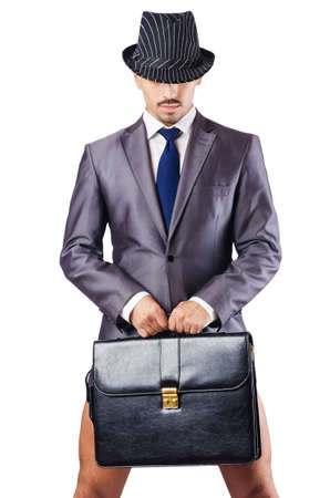 Nude businessman in business concept Stock Photo - 16765178