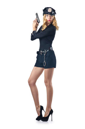 Young attractive woman police Stock Photo - 16748719