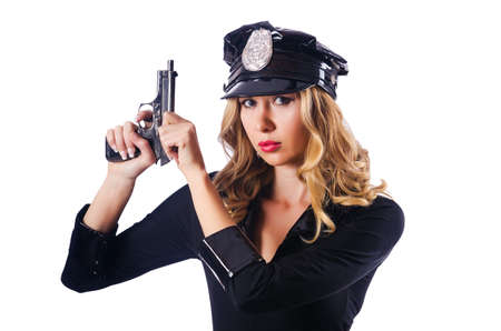 Young attractive woman police Stock Photo - 16748922