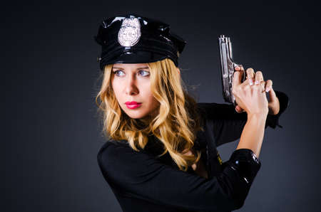 Young attractive woman police Stock Photo - 16748975