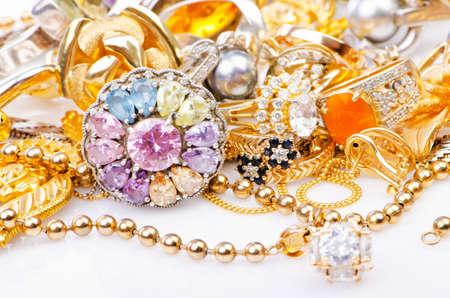Large collection of gold jewellery  photo