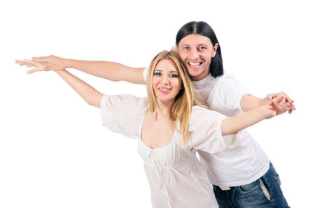 Pair of man and woman in love Stock Photo - 16925673