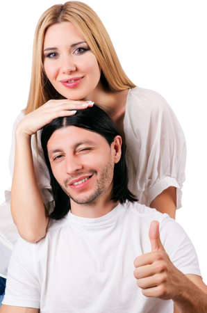 Pair of man and woman in love Stock Photo - 16934399