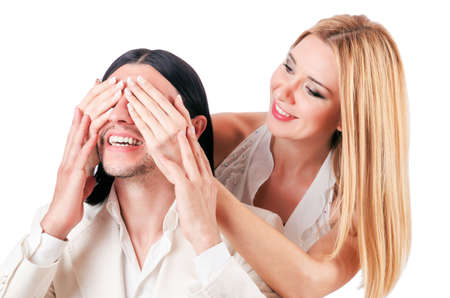 Pair of man and woman in love Stock Photo - 16934393