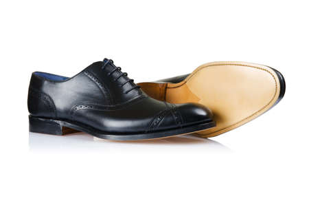 Fashion concept with male shoes on white Stock Photo - 16821683