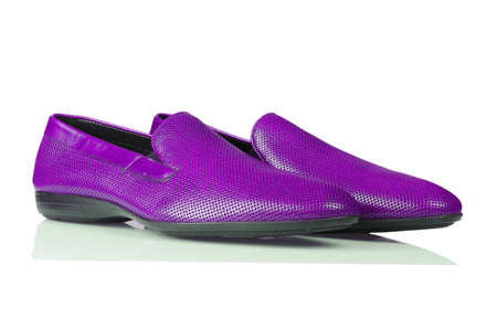 Fashion concept with male shoes on white Stock Photo - 16821778