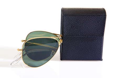 Elegant sunglasses isolated on the white Stock Photo - 16821886