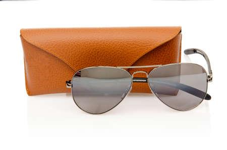 Elegant sunglasses isolated on the white Stock Photo - 16821868