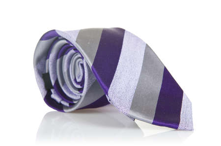 Elegant silk male tie ( necktie ) on white Stock Photo - 16821948