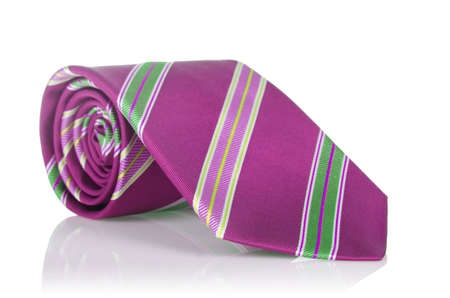 Elegant silk male tie ( necktie ) on white Stock Photo - 16821978
