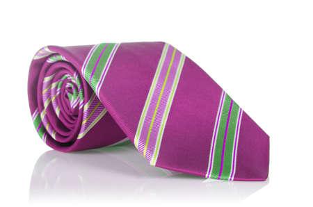 Elegant silk male tie ( necktie ) on white Stock Photo - 16821978