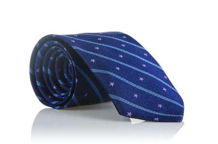 Elegant silk male tie ( necktie ) on white Stock Photo - 16821954