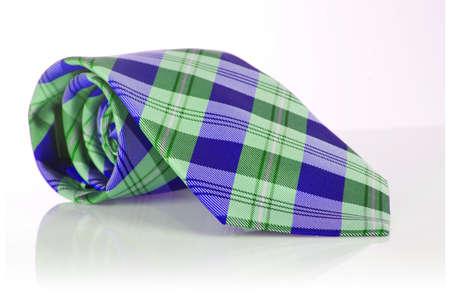 Elegant silk male tie ( necktie ) on white Stock Photo - 16821986