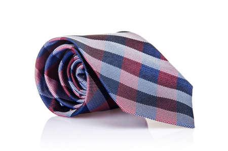 Elegant silk male tie ( necktie ) on white Stock Photo - 16821949