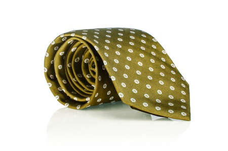Elegant silk male tie ( necktie ) on white Stock Photo - 16821911