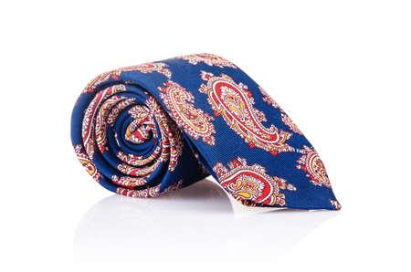 Elegant silk male tie ( necktie ) on white Stock Photo - 16821879