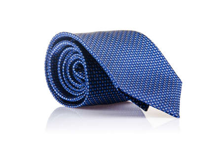 Elegant silk male tie ( necktie ) on white Stock Photo - 16821881