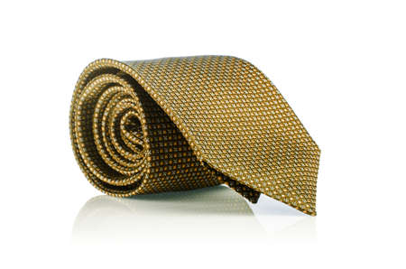 Elegant silk male tie ( necktie ) on white Stock Photo - 16821891