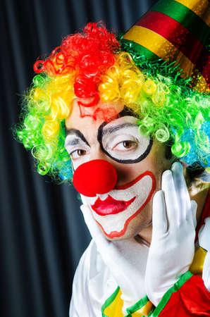 clown circus: Funny clown in studio shooting Stock Photo