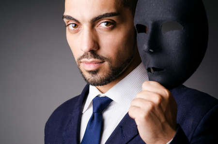 Man with black mask in studio Stock Photo - 16934391