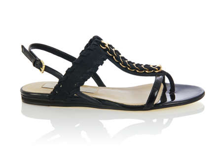 Woman sandals isolated on the white Stock Photo - 16821410