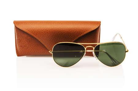 Elegant sunglasses isolated on the white Stock Photo - 16834495