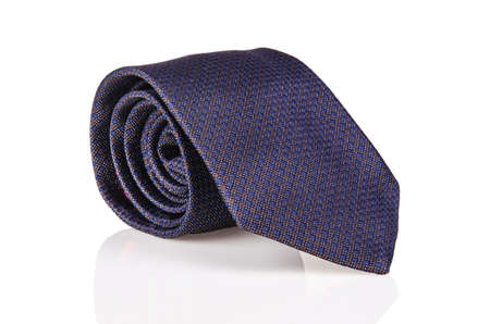 Elegant silk male tie ( necktie ) on white Stock Photo - 16834989