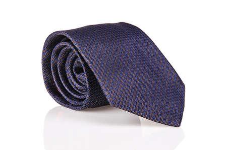 Elegant silk male tie ( necktie ) on white Stock Photo - 16834989