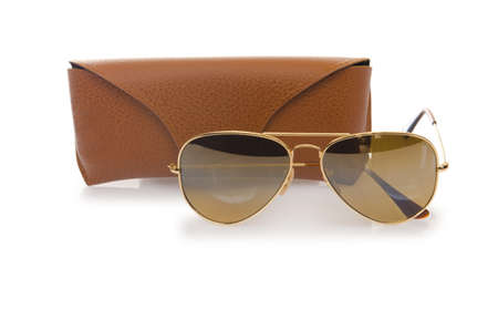 Elegant sunglasses isolated on the white Stock Photo - 16832926