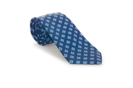 Elegant silk male tie ( necktie ) on white Stock Photo - 16833062