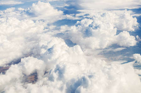 Clouds taken from the airplance Stock Photo - 16834995