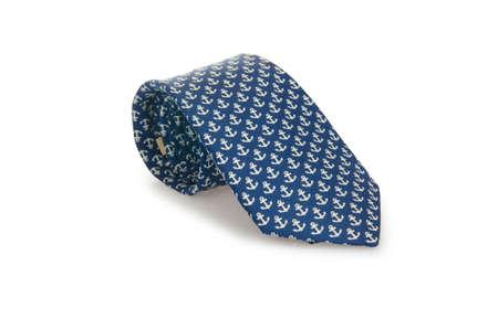 Elegant silk male tie ( necktie ) on white Stock Photo - 16833266