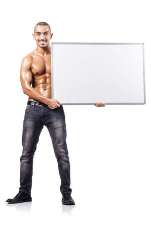 man with blank board Stock Photo - 16934436