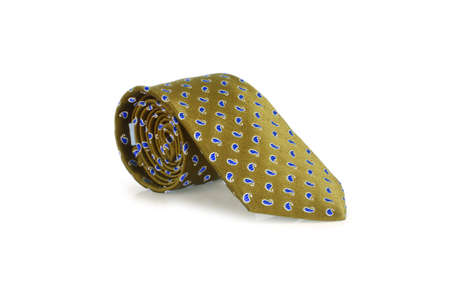Elegant silk male tie ( necktie ) on white Stock Photo - 16832927