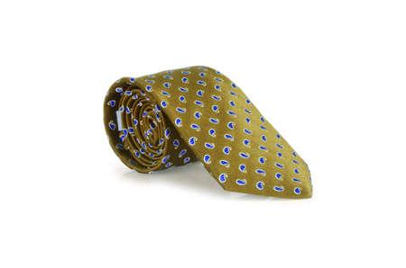 Elegant silk male tie ( necktie ) on white Stock Photo - 16832927