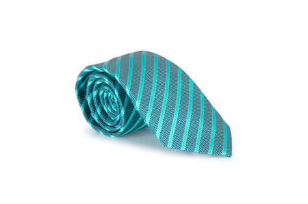 Elegant silk male tie ( necktie ) on white Stock Photo - 16833464