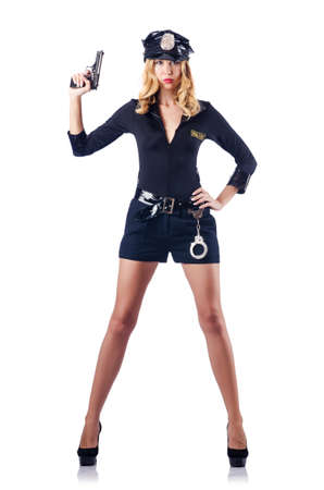 Woman police in the concept Stock Photo - 16934274