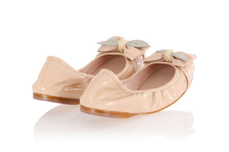 Ballet shoes in fashion concept photo
