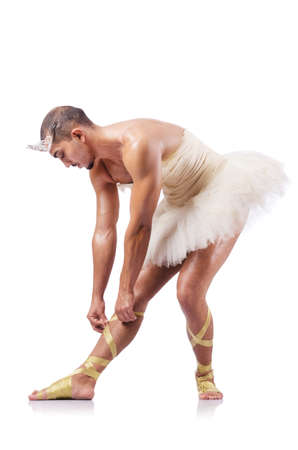 Muscular ballet performer in funny concept Stock Photo - 16942474