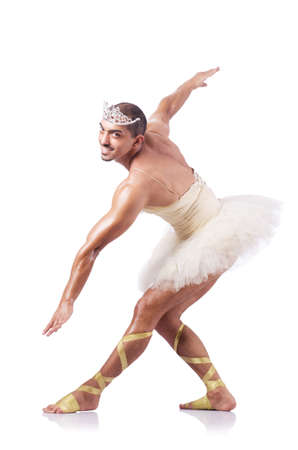 Muscular ballet performer in funny concept Stock Photo - 16942480