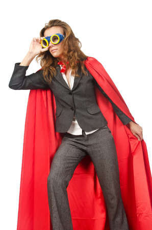 Superwoman isolated on the white Stock Photo - 16942528