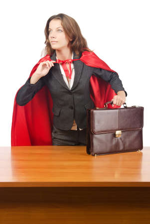 Superwoman isolated on the white Stock Photo - 16942521