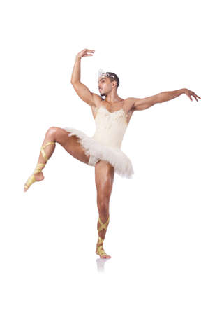 Muscular ballet performer in funny concept Stock Photo - 16942439