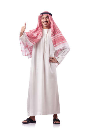 Arab man isolated on the white Stock Photo - 17385957